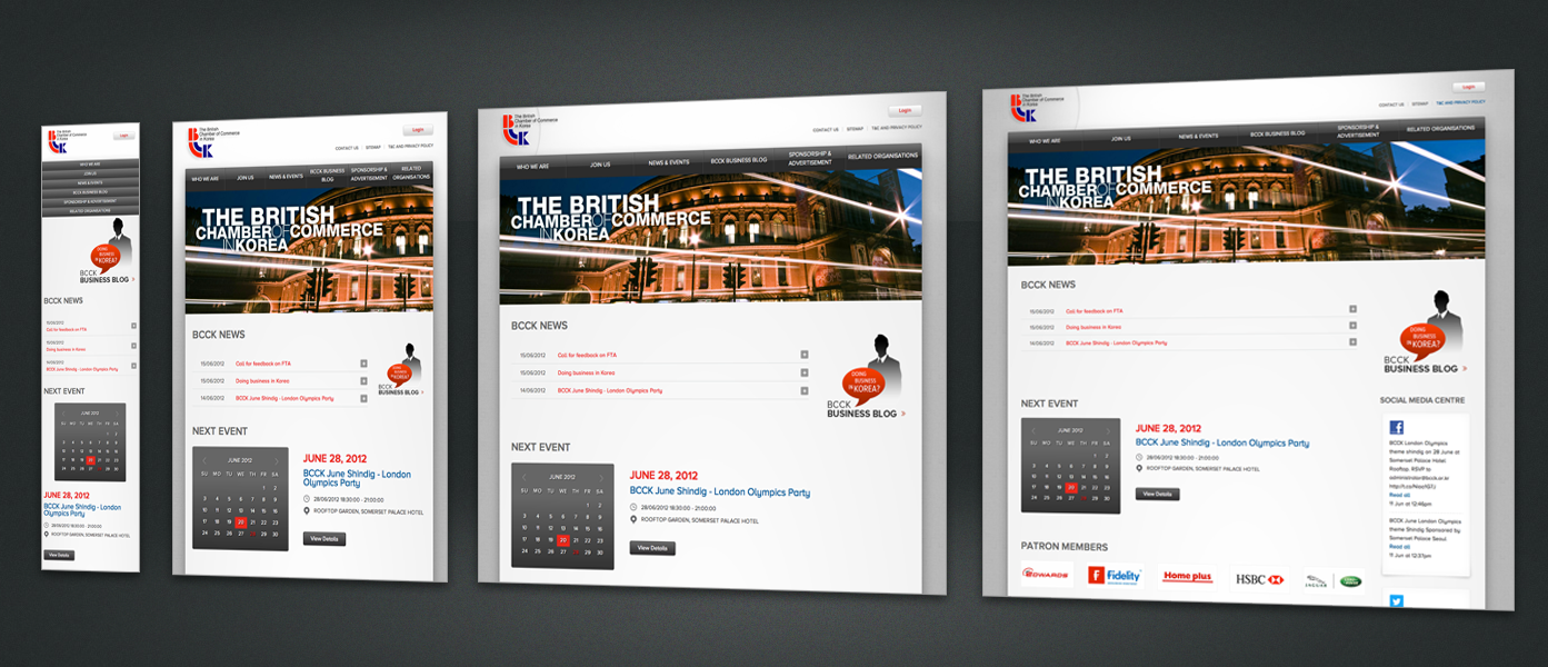 The British Chamber of Commerce Website renewal