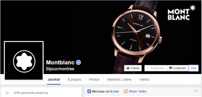 Montblanc Korean Facebook page